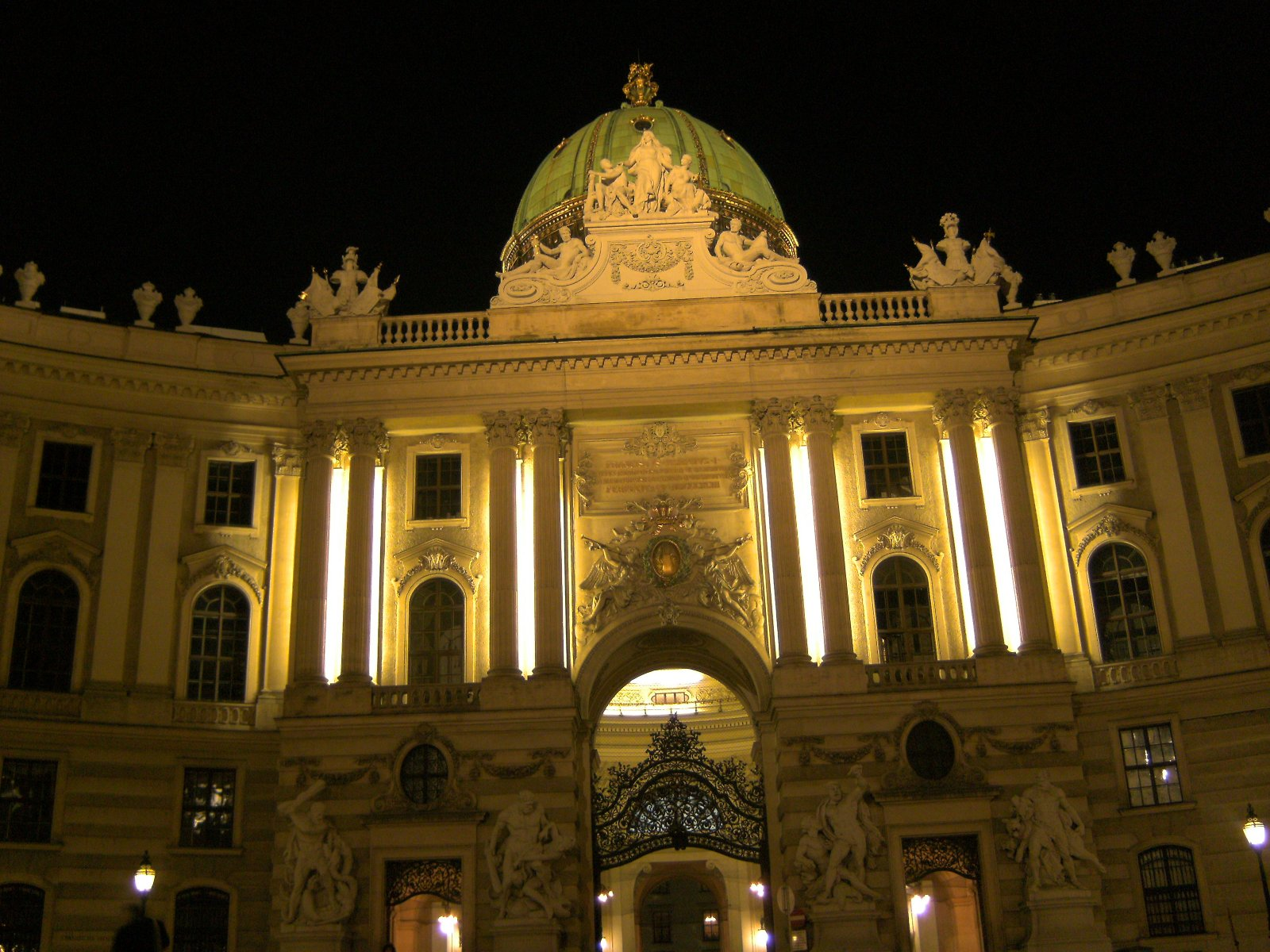 "The Michaelertor is the ""backdoor"" of the Hofburg, the former residence of the emperor."
